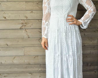 SALE 35% OFF Lace Florence Maxi Dress Bohemian Style Wedding Dress