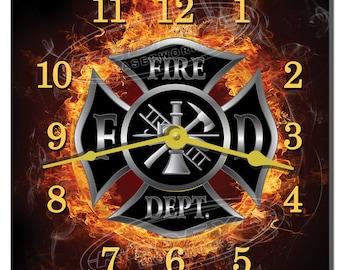 Fire Department Decorative Kitchen Wall Clock
