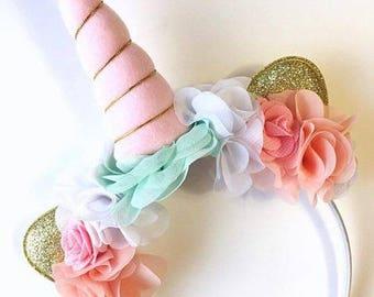 Light Pink Unicorn Headband