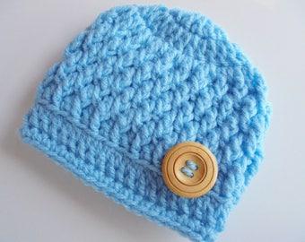 Baby boy hat Blue baby hat Newborn beanie Boy newborn outfit Crochet baby hat Baby boy beanie Boy hospital hat Baby boy outfit Baby hat