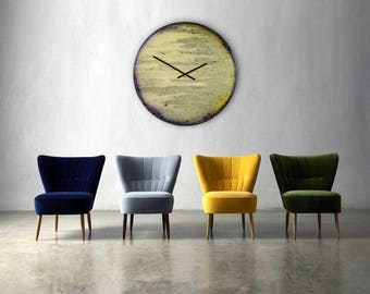 Oversized wall clock etsy - Oversized modern wall clock ...