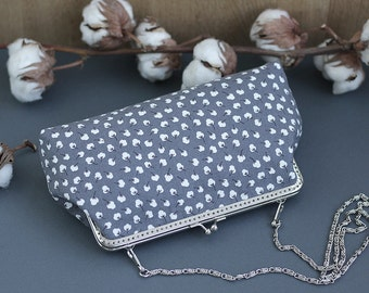 Crossbody Bag Cotton flowers, iPhone 7 wallet crossbody, iPhone 6s Plus clutch, Girlfriend gift Handbags Women Mother gift For wife for her