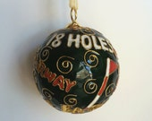 "Golf ""Sayings"" Cloisonne Ornament 