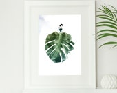 Monstera Leaf Botanical F...