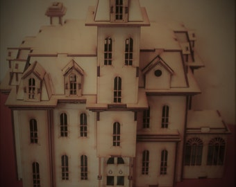 Wooden Model Addams House from the film Addams family