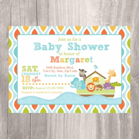 noah 39 s ark baby shower invitation printable noah 39 s ark invitation