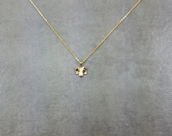 Maple Leaf [GOLD] Plated Necklace Gift Box Canada Hockey Toronto Syrup Vancouver