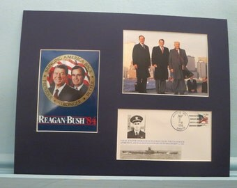 President Ronald Reagan and President Elect George Bush meet Gorbachev in NYC & Commemorative Cover