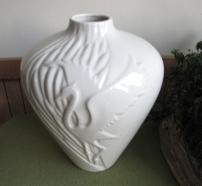 Heron Vase