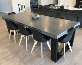 8 seater 24m dining table polished concrete patio table with powder