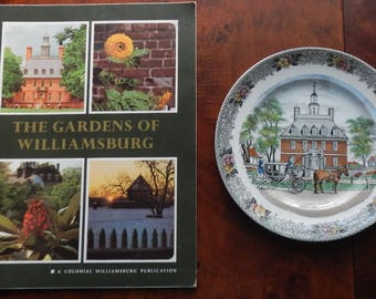 Vintage Colonial Williamsburg Plate and Book!