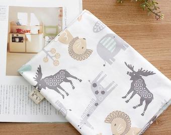 Safari Animal Pattern Cotton Fabric by Yard