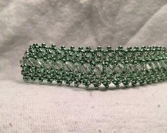 Metallic Green Flat Bracelet- 8.5 inches