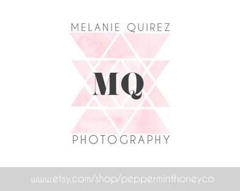 MELANIE QUIREZ, Logo, Feminine, Branding, Photography, Business, Blog, Boutique, Brand, Geometric, Pink, Pastel, Shape, Modern, Chic