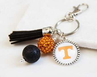 University of Tennessee Key Chain, Tennessee Keychain, UT, Knoxville, Power T, Orange and White, Game Day Gifts, Tennessee Gifts, Game Day