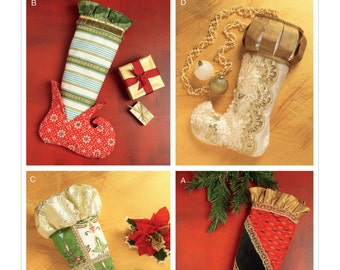 McCall's Pattern M7523 Christmas Stockings in Four Styles