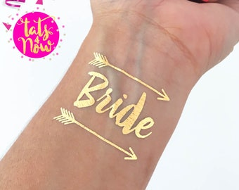 BRIDE TRIBE tattoos / Find your tribe and love them hard / bachelorette party accessories / fake tattoos skin tattoo / stagette / hens party