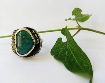 SALE!Boyfriend Ring| Size 8/ Turquoise & Sterling Silver