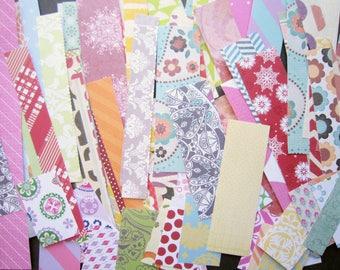100 Piece Assorted Scrapbook Paper Scrap Pack/  Scrapbook Paper Destash/ Scrapbook Paper Pack/ Paper Pack / Paper Stripes /