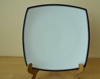 "Studio Nova Fine China 'Accent Black' Y0805 Salad Plate, 8-1/4"" x 8-1/4"", Set of 4"