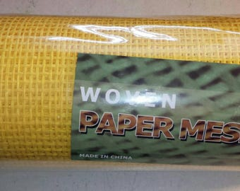 "10"" Yellow Woven Paper Mesh Roll 10 yards"