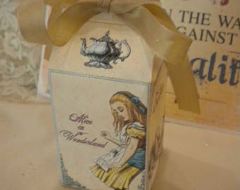 Alice in Wonderland Party Favor Milk Carton Box (4)