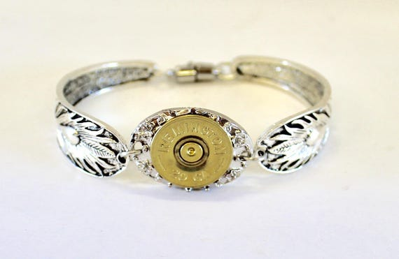 20 Gauge Shotgun Shell Bracelet, Southwestern Style Jewelry Bracelet, Silver and Gold Magnetic Bracelet, Gift For Her, Jewelry Gift For Wife