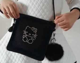 Girls Bag, Shoulder Bags, Handbags, Crossbody Bags, Messenger Bags, Hello Kitty Bag, Birthday gift for her, Accessories Kids Bag