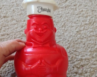 Plastic Frenchy the Chef Catsup Container with Removeable Hat