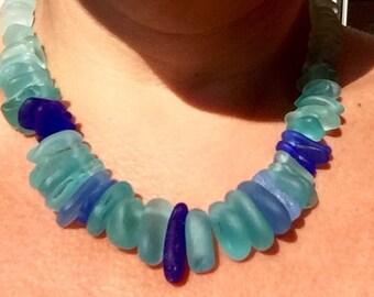 Sea Glass Necklace, Sea Glass Jewelry