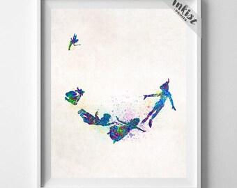 Disney Peter Pan, Peter Pan Print, Disney Poster, Peter Pan Poster, Peter Pan Art, Gift Her Her, Gift Idea, Wall Art, Type 1, Gift For Him