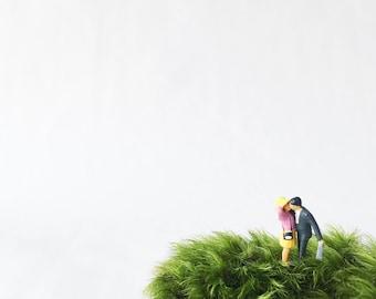 SALE // Kissing terrarium figurine, Terrarium Figurines, Moss Terrarium Figurine, Terrarium Accessory, Terrarium Miniatures