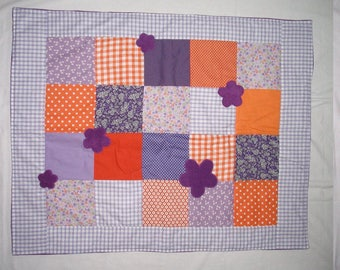 Cover baby - Orange Plaid / purple