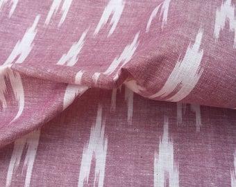 Pure Cotton Handloom Ikat fabric, Dress Fabric,Ikat fabric ,Cotton Linen Fabric by yard