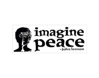 Imagine Peace - John Lennon - Bumper Sticker / Decal or Magnet
