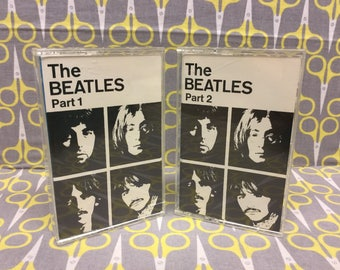 White Album by The Beatles Cassette Tape rock Vintage