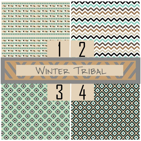 Winter Tribal Aztec Mexican Chevron Arrows Adhesive 651 Vinyl, HTV or Glitter HTV. Choice of 3 sizes. 6x6, 6x12 or 12x12. Decals HTV