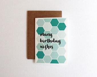 Many Birthday Wishes Greeting Card