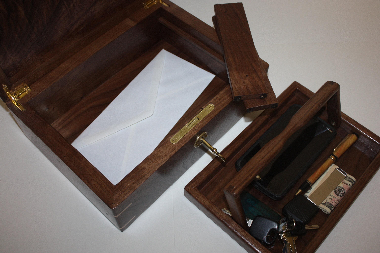 Walnut Valet or Keepsake Box