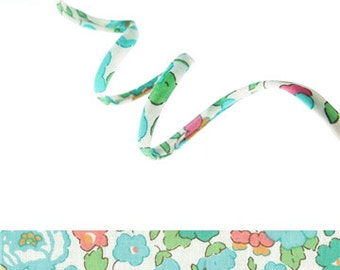 Betsy D Liberty fabric cord, UK fabric supplies, summery printed cotton cord for crafting, embellishing or gift wrapping