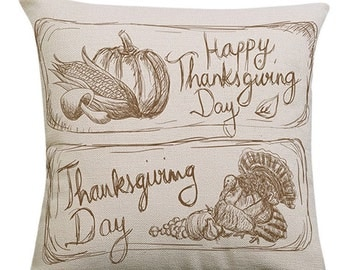 Happy Thanksgiving Day - Pillow Cover