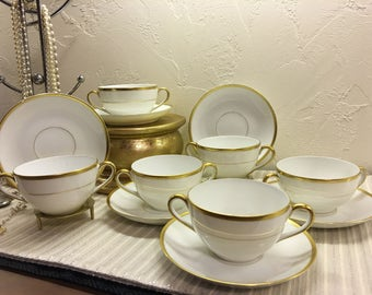 Made In Japan Noritake Set of 6 Teacups and Saucers