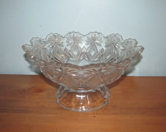 Vintage Glass Bowl Punch / Serving