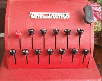 Tom Thumb Toy Cash Register Red