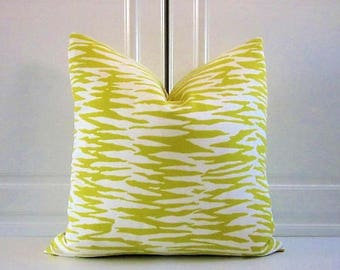 Trina Turk Decorative Pillow Cover-Yellow Zebra Bamboo- Indoor/Outdoor- 16x16,18x18, 20x20, 22x22, 24x24