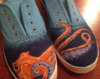 Octopus Hand Painted Shoes!