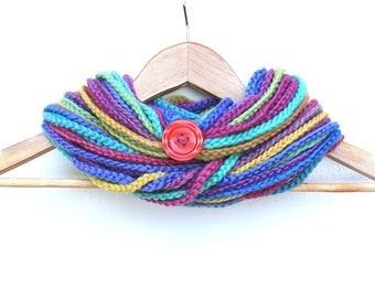 Rainbow Chain Infinity Scarf