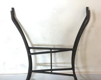 Tripod folding black wrought iron vintage handmade for Moroccan tray
