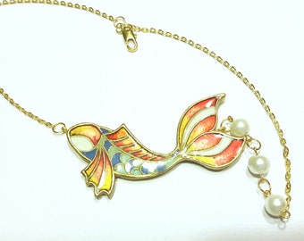 "Necklace ""Golden Fish"""