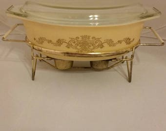 Pyrex Golden rose